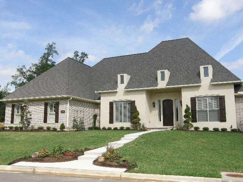 Custom French Country Exterior and Landscaping
