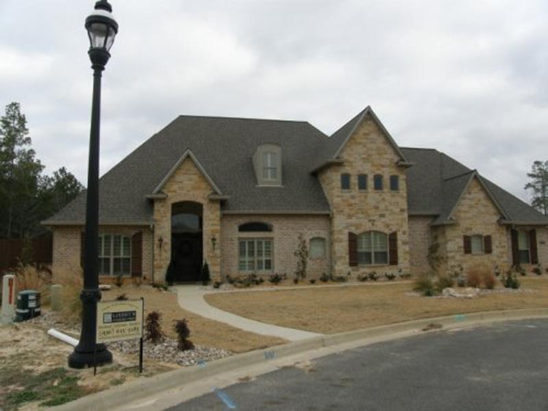 Frensh Country Elevation with Stone and Brick Details
